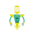 colorful technology robot with machine robotic vector image