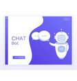 concept website chat bot holds speech bubbles vector image vector image