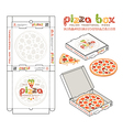 design of boxes for pizza vector image vector image