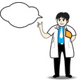 Doctor man thinking vector image vector image
