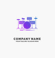 drum drums instrument kit musical purple business vector image