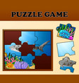 educational puzzle game for preschool children wit vector image vector image