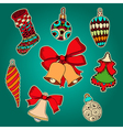 for the New Year holiday vector image vector image