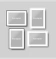frames moclups realistic set vector image vector image