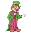 Funny Circus Clown vector image vector image