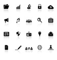 General document icons with reflect on white vector image vector image