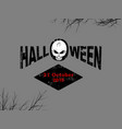 halloween decorative text with skull and date vector image vector image