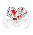 heart made of floral vector image vector image