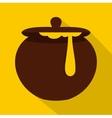 Honey pot icon flat style vector image vector image