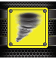 Hurricane warning sign vector image
