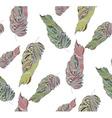 Leaf pastel pattern2 vector image vector image