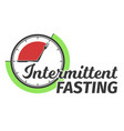 logo of intermittent fasting clock face vector image vector image