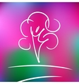 logo rose nature tree and harmony vector image vector image