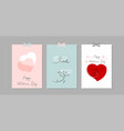 lovely abstract hand drawn greeting cards vector image