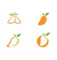 mango logo icon vector image vector image