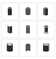 Metallurgy products Icons Set vector image vector image