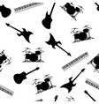 musical instruments seamless repeating pattern vector image vector image