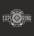 never stop exploring typography on black vector image vector image