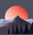 night landscape design vector image