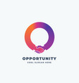 opportunity abstract sign symbol or logo vector image vector image
