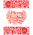 ornate merry christmas lettering on vector image vector image