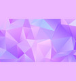 pastel bright lavender low poly backdrop design vector image vector image
