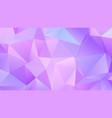 pastel bright lavender low poly backdrop design vector image vector image