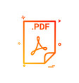 pdf application download file files format icon vector image