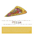 pizza slice fast food italian vector image vector image