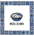 portugal landmarks set pastel de nata vector image vector image