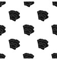 protective glovespaintball single icon in black vector image vector image