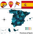 provinces of spain vector image vector image