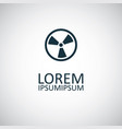 radiation sign icon for web and ui on white vector image