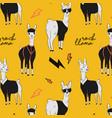 rock llama cartoon alpaca character in vector image