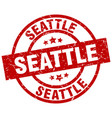 seattle red round grunge stamp vector image vector image