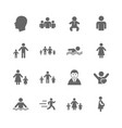 set of people and family icons swimming pool vector image