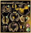 shield security concept vector image vector image