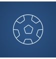 Soccer ball line icon vector image vector image