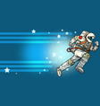stars space astronaut runs forward vector image vector image