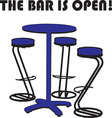 The Bar Is Open vector image vector image