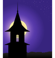 The tower in the moonlight vector image vector image
