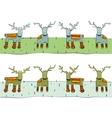 Tileable Reindeer Border vector image vector image