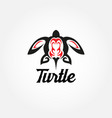 tribal turtle tattoo logo sign symbol icon vector image vector image