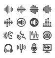 voice and sound icon set vector image vector image