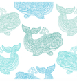 Whale in paisley doodle mehndi style
