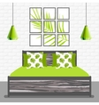 with bedroom in flat style vector image vector image