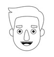 Young man cartoon face character expression
