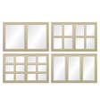aluminium window set vector image