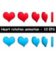 Heart rotation animation vector image