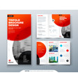 tri fold brochure design red business template vector image